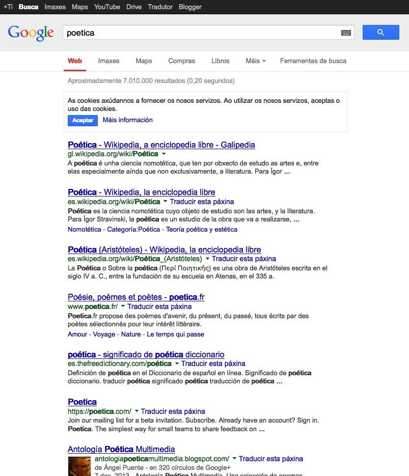 Poetica google